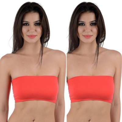 Aws Fashion Bandeau Combo Women's Tube Red Bra at flipkart
