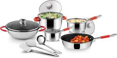Ideale Cookware Set(Stainless Steel, 11 - Piece) at flipkart