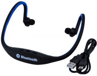 Anti Tank bs19 Wireless Bluetooth Headset With Mic(black and blue)