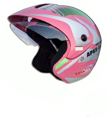 GREEN STONE Apex Bluetooth Motorbike Helmet - M, S(Pink)