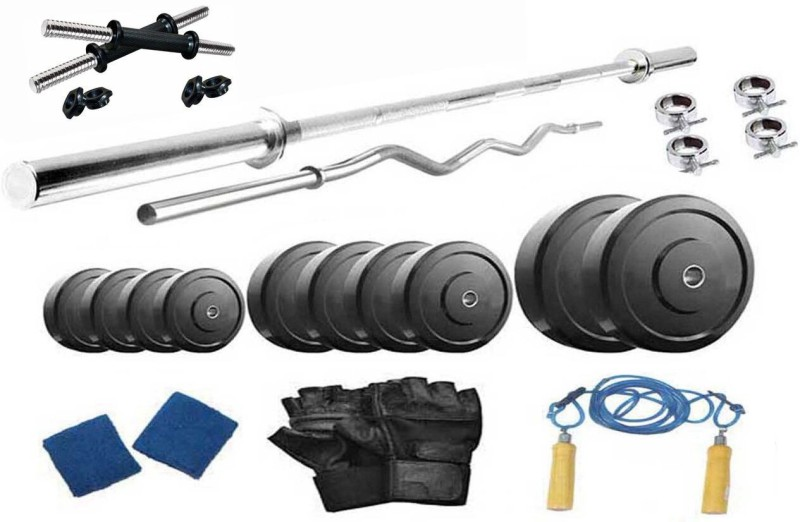 Protoner 10 kg PVC with 4 Rods Home Home Gym Combo(0 - 20 kg)