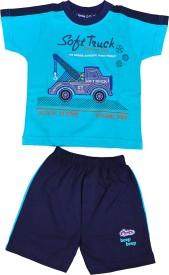 Mahadhi Boys Casual Top Shorts(Blue)
