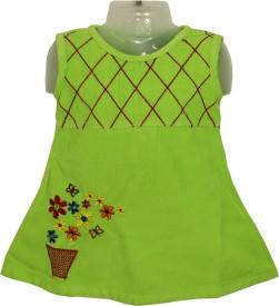 Kid's Care Baby Girl's Mini/Short Party Dress(Light Green, Sleeveless)