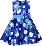 MKB Girl's Midi/Knee Length Casual (Blue...