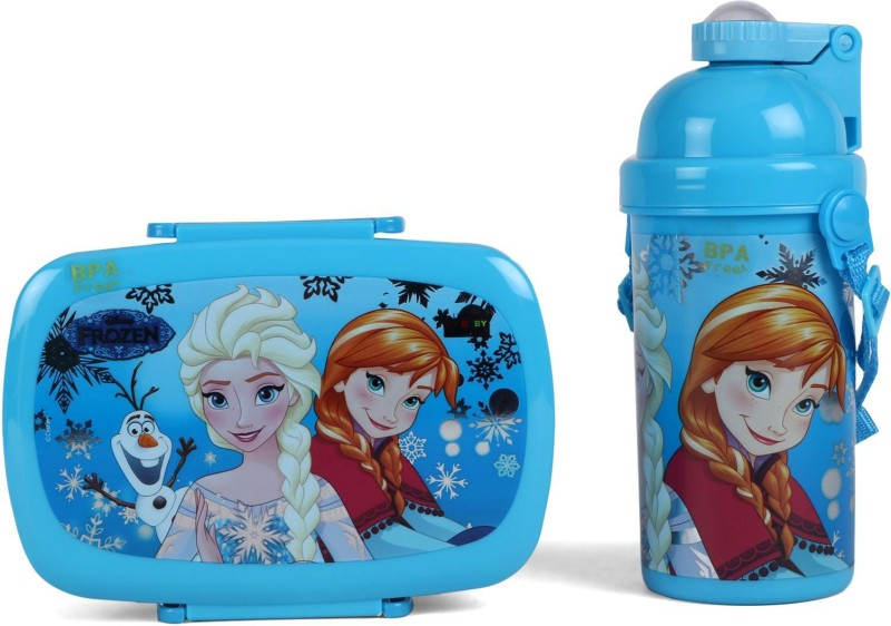 Disney Frozen Combo Set (Blue) 1 Containers Lunch Box(730 ml)