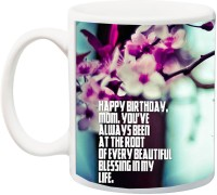 iZor Gift for Mummy/mother/mum;Happy Birthday Mom You'Ve Always Been Rose 3D Printed Ceramic Mug