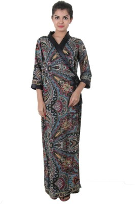 Estyle Women's Nighty with Robe(Multicolor) at flipkart