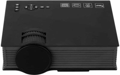 VibeX Upgraded UC46 Mini LCD WIFI Compact Theater Multimedia Video 1200 lm LED Corded Portable Projector(Black)