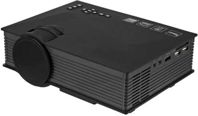 VibeX UC-46 Mini LED Video Home Cinema Beamer UNi-Link WiFi 1200 lm LED Corded Portable Projector(Black)