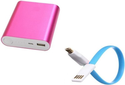 SPIRITe 186786 USB Portable Power Supply 12000 mAh Power Bank(Pink, Lithium-ion)
