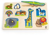 Hape Hape-Wooden Wild Animals Peg Puzzle...