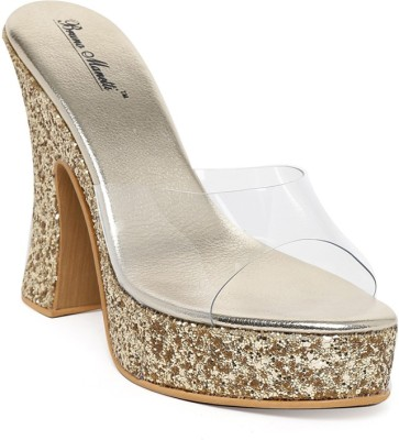 Bruno Manetti Women Gold Heels