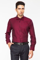 Dapper Homme Formal Shirts (Men's) - Dapper Homme Men's Self Design Formal Red Shirt