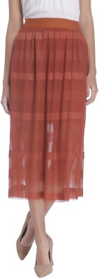 Vero Moda Solid Women's Regular Brown Skirt at flipkart