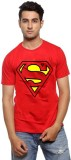 ILYK Printed Men's Round Neck Red T-Shir...