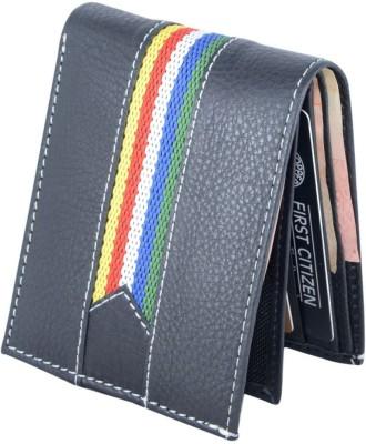 Holboro Men Black Genuine Leather Wallet(9 Card Slots)