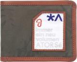 Atorse Men Green Fabric Wallet (8 Card S...