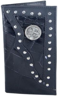 Holboro Men Black Genuine Leather Wallet(13 Card Slots)