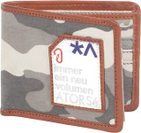 Atorse Men Khaki Fabric Wallet (8 Card S...