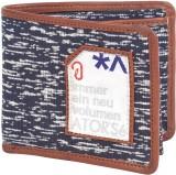 Atorse Men Blue Fabric Wallet (8 Card Sl...