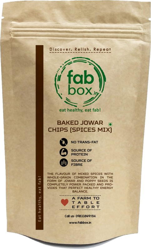FabBox Baked jowar Chips (Spiced) Chips(140 g)
