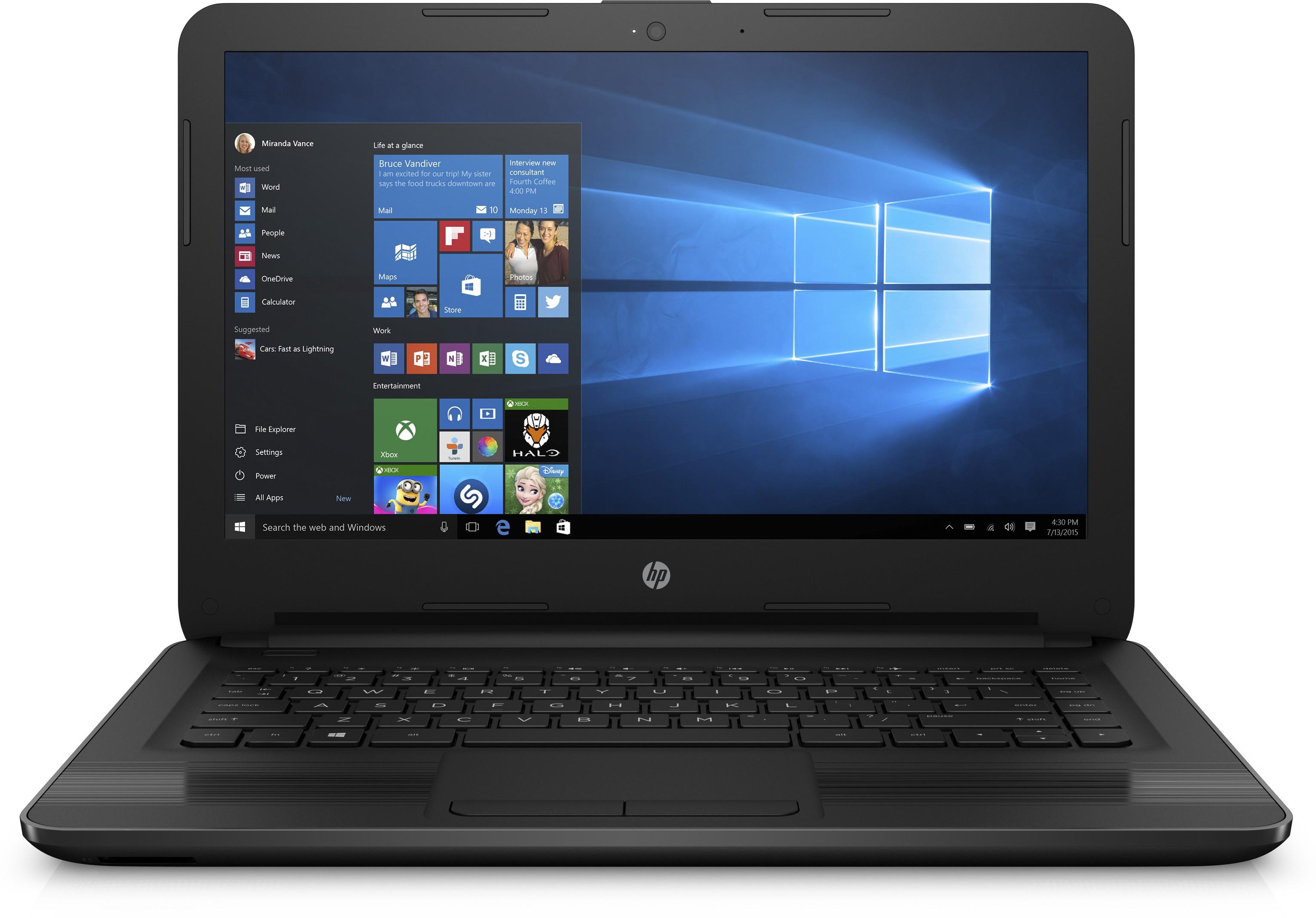 View HP Core i3 6th Gen - (4 GB/1 TB HDD/Windows 10 Home) 14-ar005TU Notebook(14 inch, Black) Laptop
