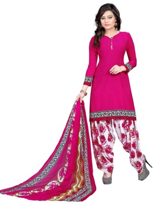 Pickurs Crepe Printed Salwar Suit Material(Un-stitched)