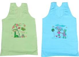 IndiWeaves Camisole Bodysuit Slip For Girls(Green, Pack of 2)