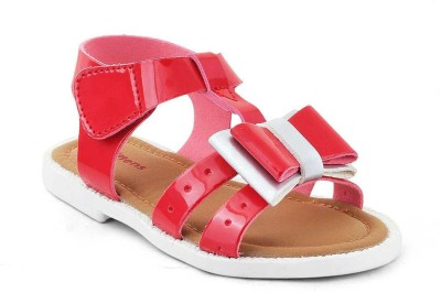 Kittens Girls Buckle Flats(Red)