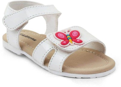 Kittens Girls Buckle Flats(White)