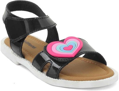 Kittens Girls Buckle Flats(Black)
