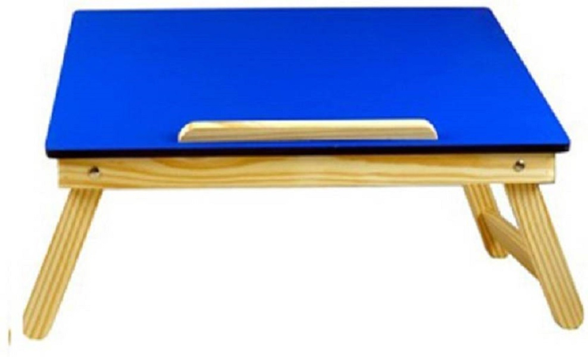 View ginnie and ginnie 1BT Solid Wood Portable Laptop Table(Finish Color - BLUE) Furniture (ginnie and ginnie)