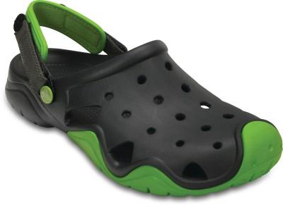 Crocs Men Volt Green/Graphite Clogs