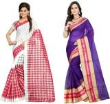 Stylish Sarees Checkered Fashion Cotton ...