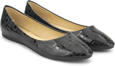 Addons Addons Black Colored Ballerinas Bellies(Black)