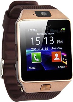 Smart Watch DZ09 (Similar to Mi Band 2) Bluetooth, Sim, Memory Card Slot, Camera Fitness Tracker(Brown) at flipkart