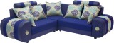 Woodpecker Solid Wood Sectional Blue Sof...