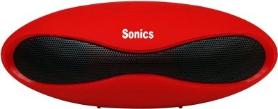 Sonics IN-BT601 Portable Bluetooth Mobile/Tablet Speaker(Red, 2.1 Channel)