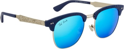 Ted Smith TS-Y9914/S_T25 Over-sized Sunglasses(Brown, Blue)