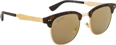Ted Smith TS-Y9914/S_T24 Over-sized Sunglasses(Grey, Golden)
