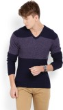Arrow New York Solid V-neck Formal Men D...