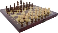 SSB exquisite polish wooden game set 1 inch Chess Board(Multicolor)