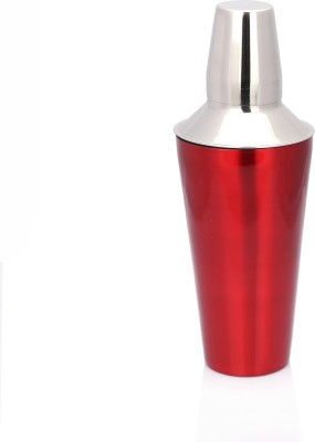 Sharda Corporation 828 ml Stainless Steel Cocktail Shaker(Red)