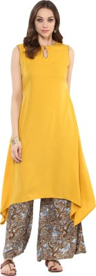 Gerua Women's Kurta and Palazzo Set at flipkart