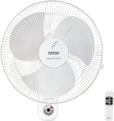 Usha MAXX AIR COMFY WITH REMOTE 3 Blade 400MM Wall Fan(WHITE)