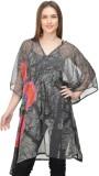 Selfiwear Printed Chiffon Women's Kaftan