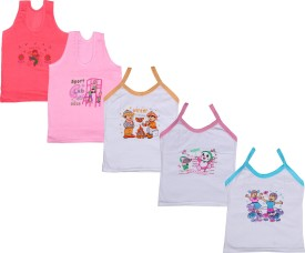IndiWeaves Camisole Bodysuit Slip For Girls(Multicolor, Pack of 5)