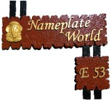 NameplateWorld Wooden Handmade Name Plat...