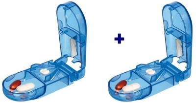 Ezy Set of 2 Manual Pill Cutter(Aqua)