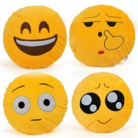 Cortina Smiley Decorative Cushion Pack of 4(Yellow)
